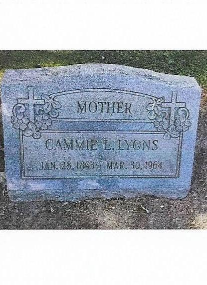 grandma Lyons grave marker 001