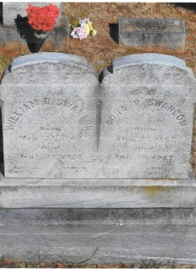 grave markers of William and Cora Swanson 001
