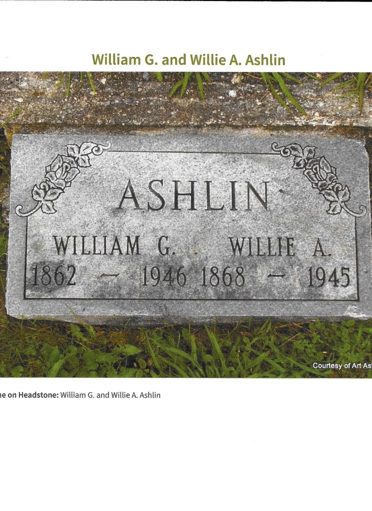 Wm German & Willie A Ashlin grave stone 001