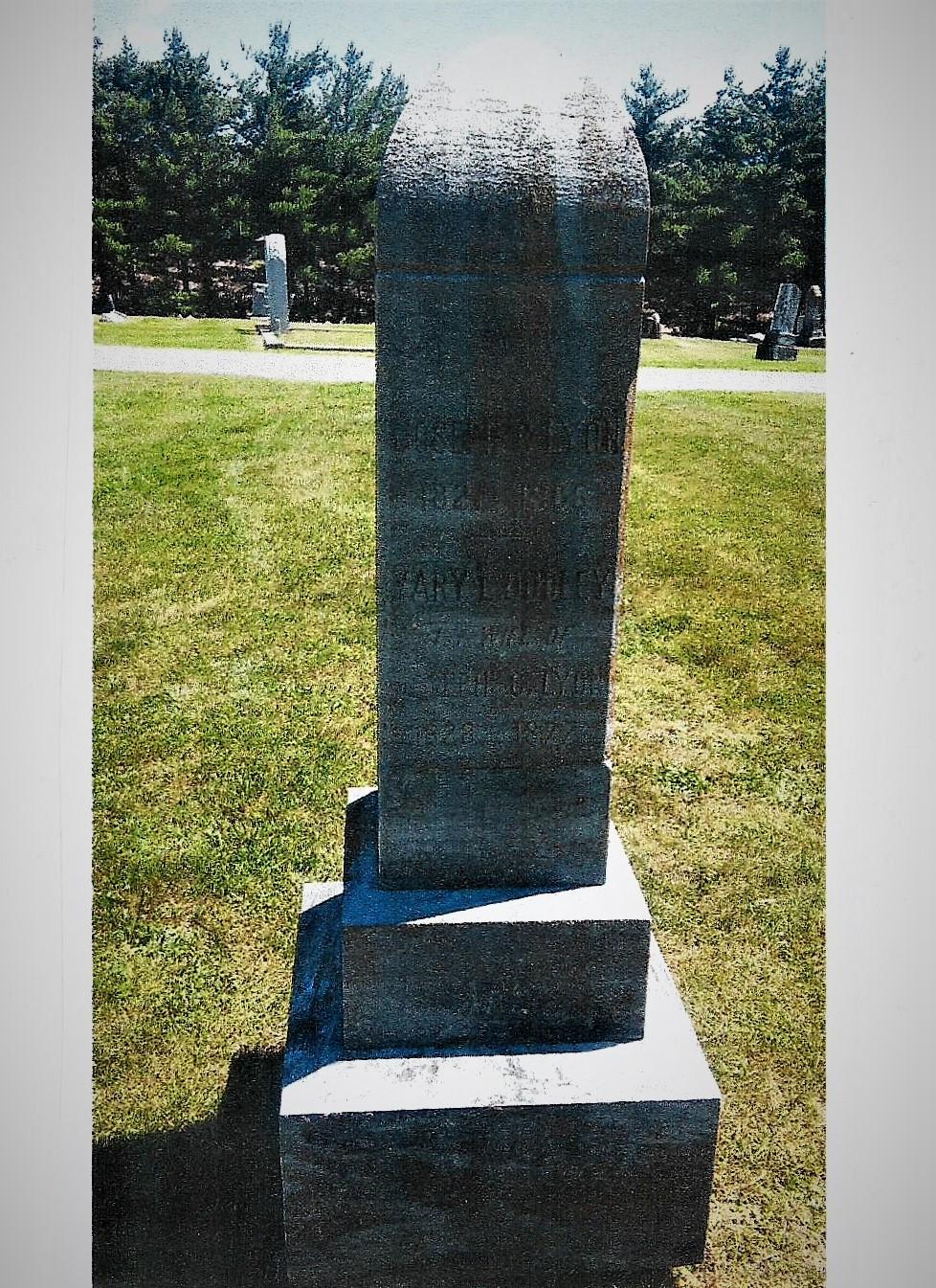 Lyon, Joseph Cloud, Grave Stone 3 001