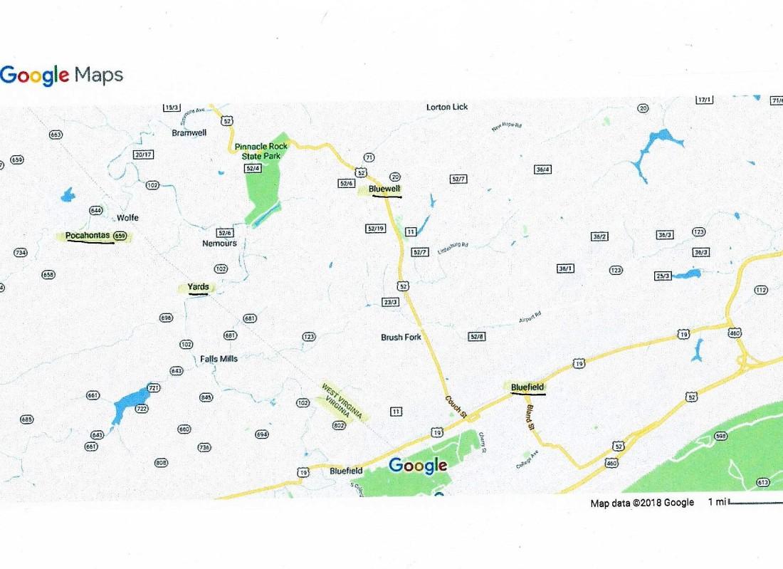 map of bluefieldWV 001