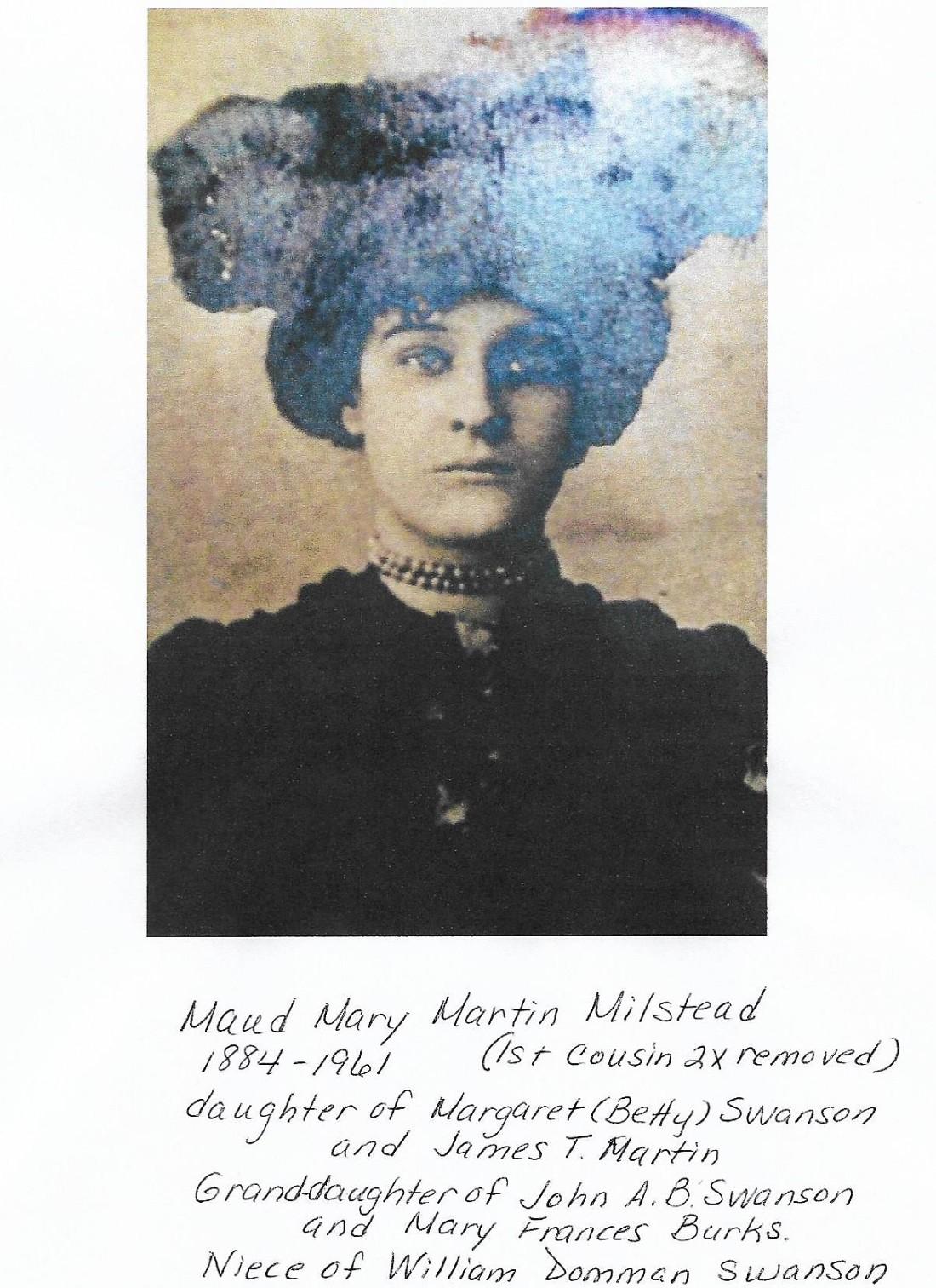 Maud Mary Martin Milstead 001
