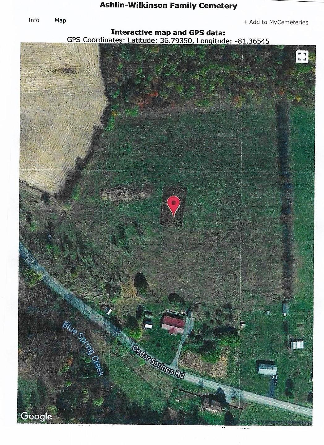 Ashlin-Wilkinson Cemetery GPS 001