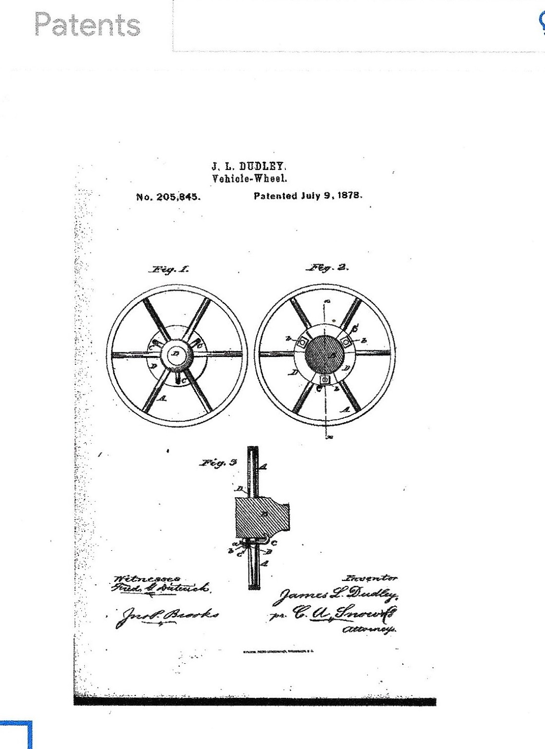 Dudley, James Lyon, invention wheel brace 001