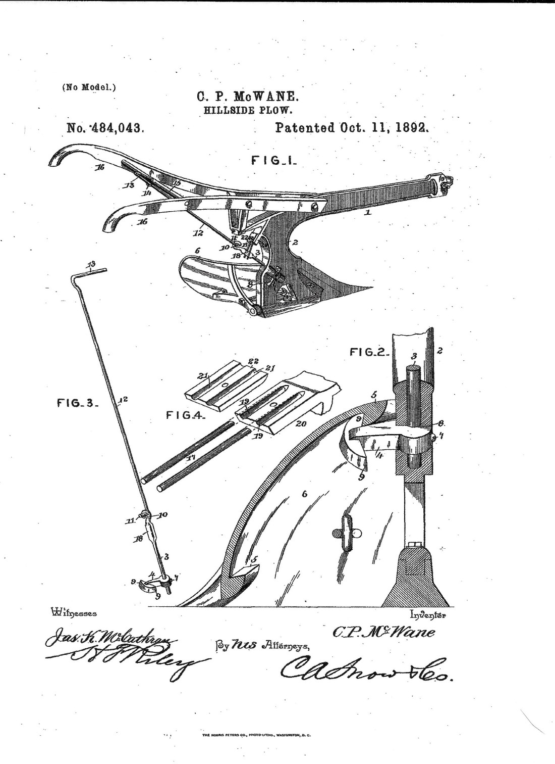 McWane, C P Hillside Plow invention 001