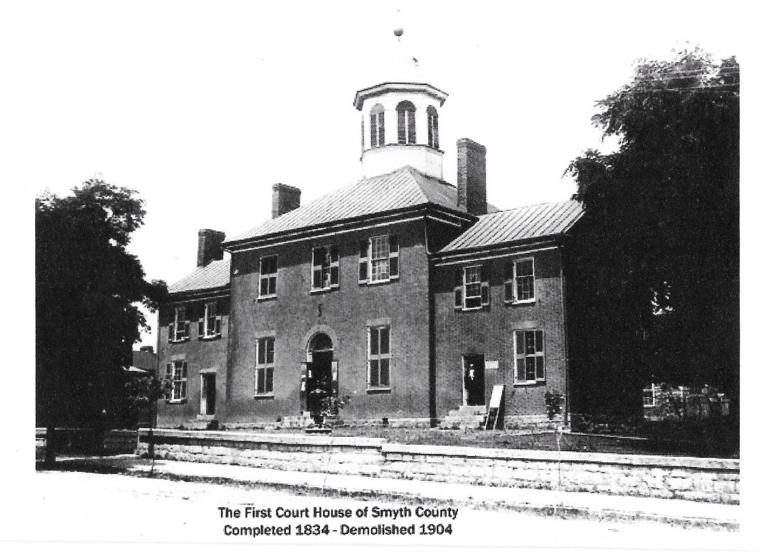Smyth County Courthouse, 1834, file under Thomas 001