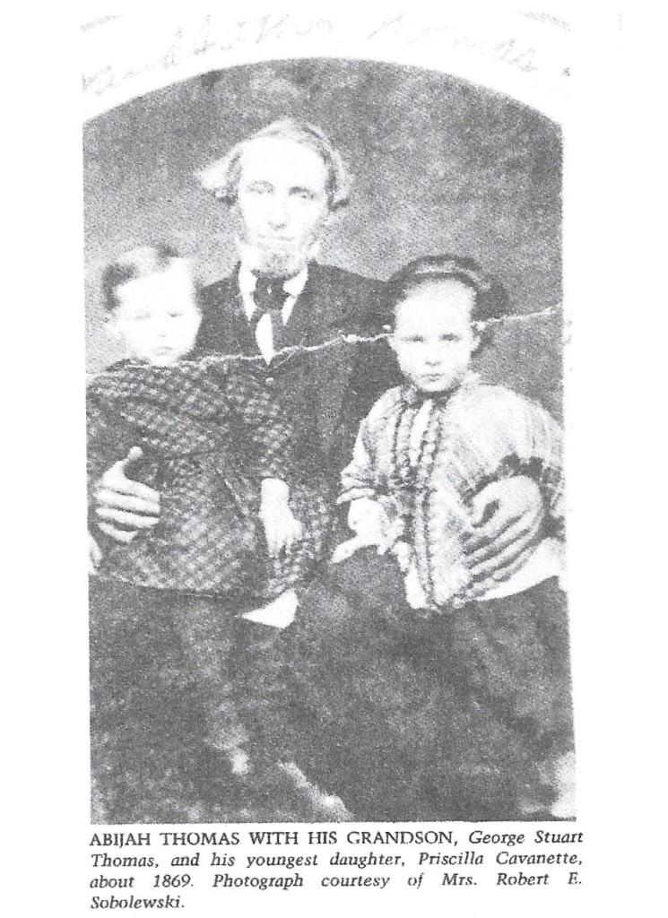 Thomas, Abijah, with grandson, picture, 1869 001