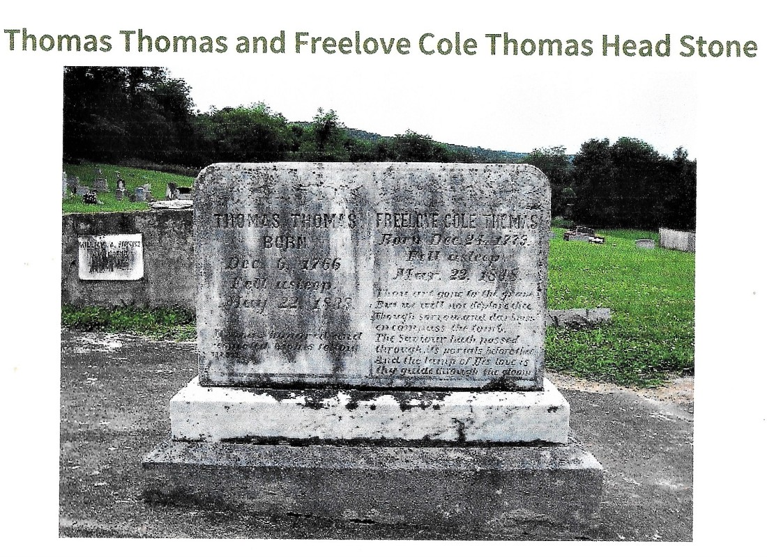 Thomas, Thomas, grave, 1838, Marion,Smyth VA (Freelove Cole) 001
