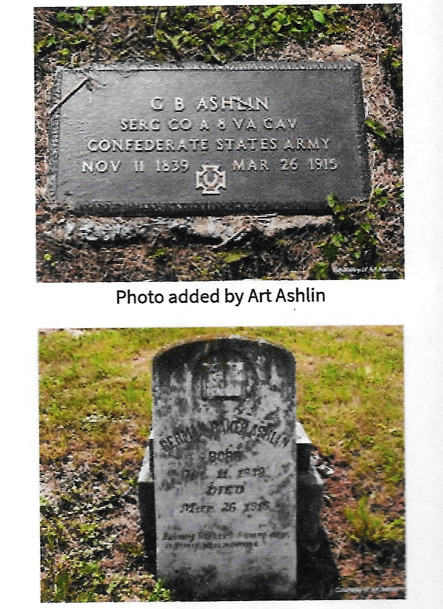 Ashlin, German B, grave 2, 1915, Smyth VA 001