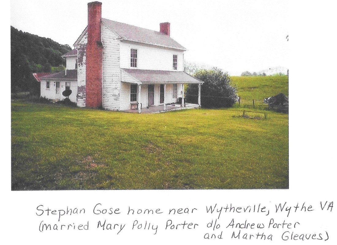 Porter, Mary Gose, home, picture, Wythe VA 001