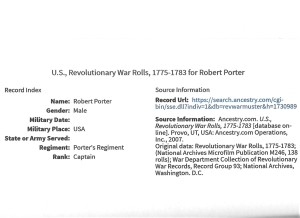 Porter, Robert, Military, 1775, Rev. War 001