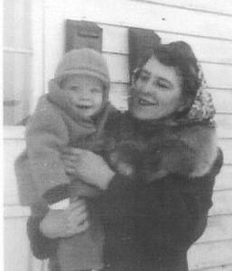 Grandma Lyons with Art 1945 001