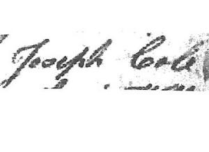Cole, Joseph Jr, signature 001