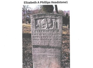 Phillips, Eliz Akers, grave, 1842, Lynchburg VA 001