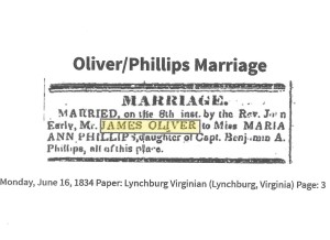 Phillips, Maria, marr, 1834, Lynchburg VA 001