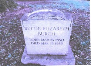 Burch, Bettie C, grave, 1924, Lynchburg VA 001