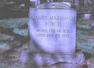 Burch, Jame Marshall, grave, 1933, Lynchburg VA 001