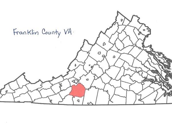 Franklin Co, VA Map 001