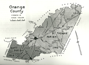 Map, Orange County VA Map 1740