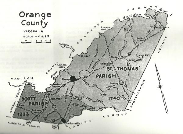 Map, Orange County VA Map 1740