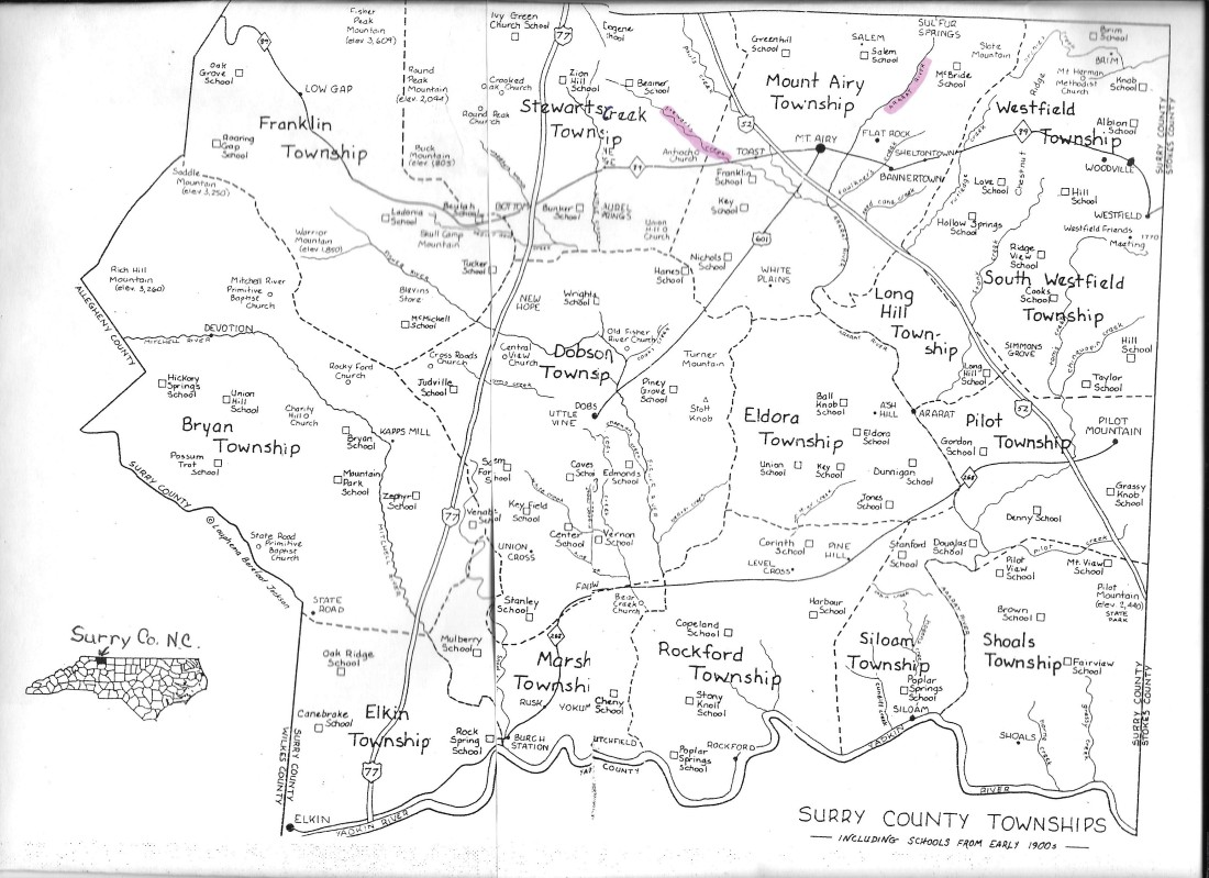 Mount Airy NC Twp Map 001