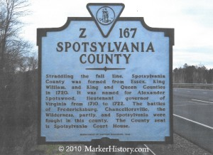 spotsylvania County sign, taliaferro, John 001