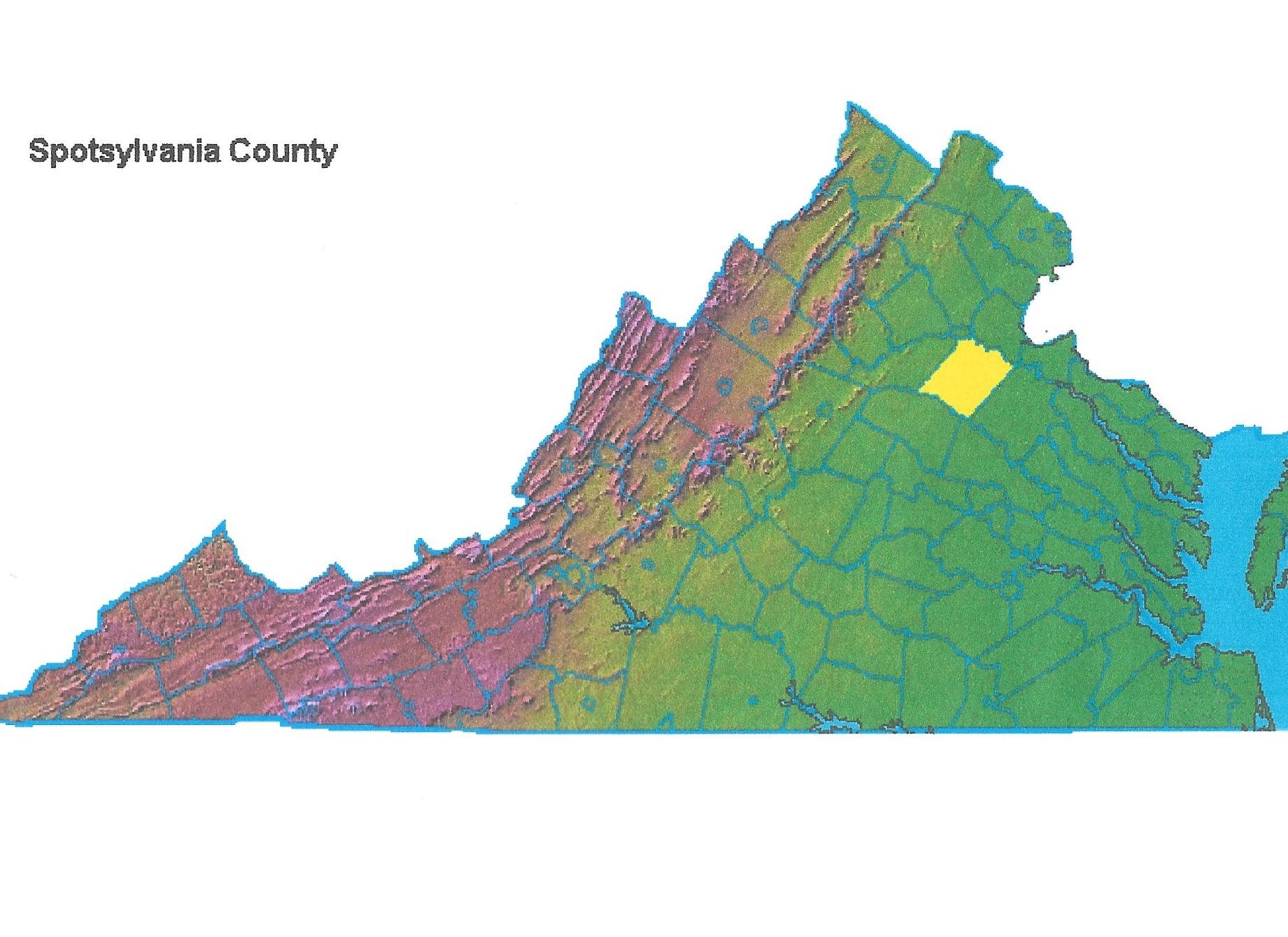 Virginia map and Spotsylvania Co., Taliaferro, John 001