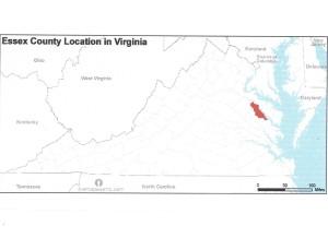 Essex County VA location in VA map 001
